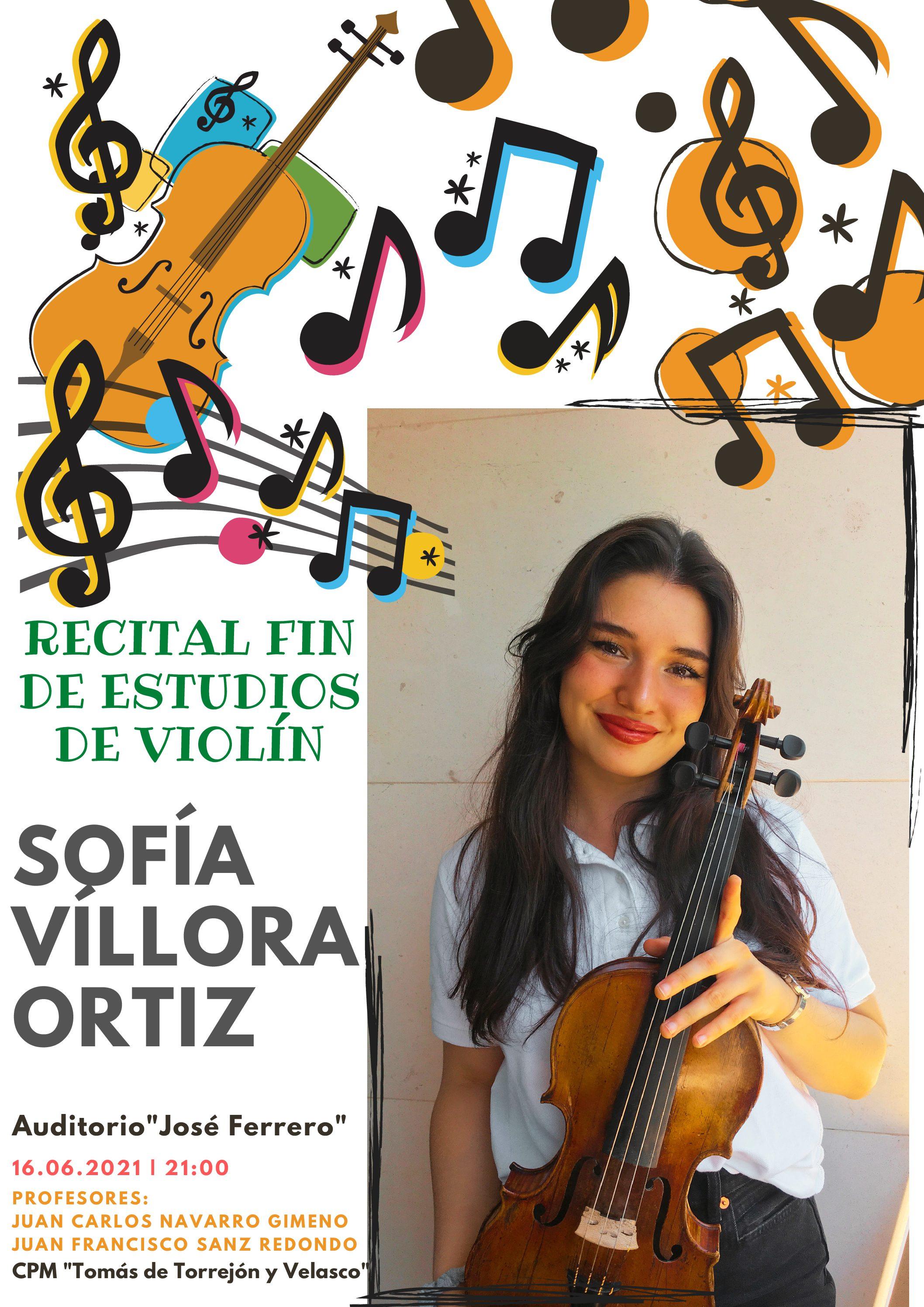 Recital Fin de estudios – Sofía Víllora Ortiz